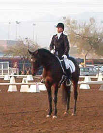 Ahmed Fabo at the 2003 Scottsdale All Arabian show  -  Diana Johnson photo