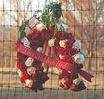 A beautiful rose memorial wreath send by Cyndi, one of his favorite fans.