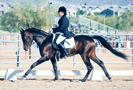 Ahmed Fabo and Jackie Alkin  -  Dec 2002 Saguaro Classic Arabian Horseshow - Diana Johnson Photo