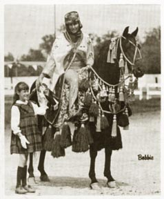 Fa-Rousse in one of his many show photos.  From Arabian Horse World - March 1969, page 27.
